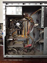 Натрупване на прах в компютри